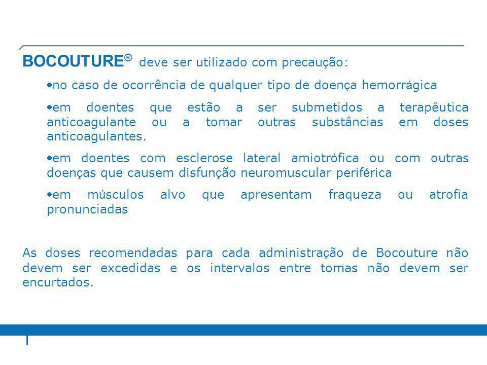 BOCOUTURE® deve ser utilizado com precaução: