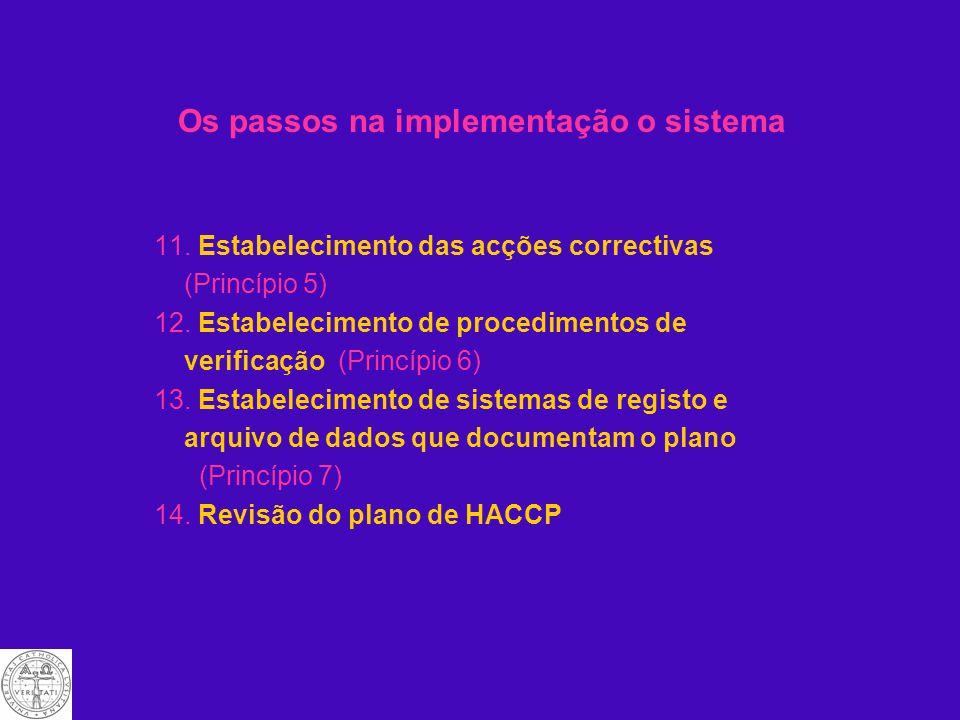Os passos na implementação o sistema