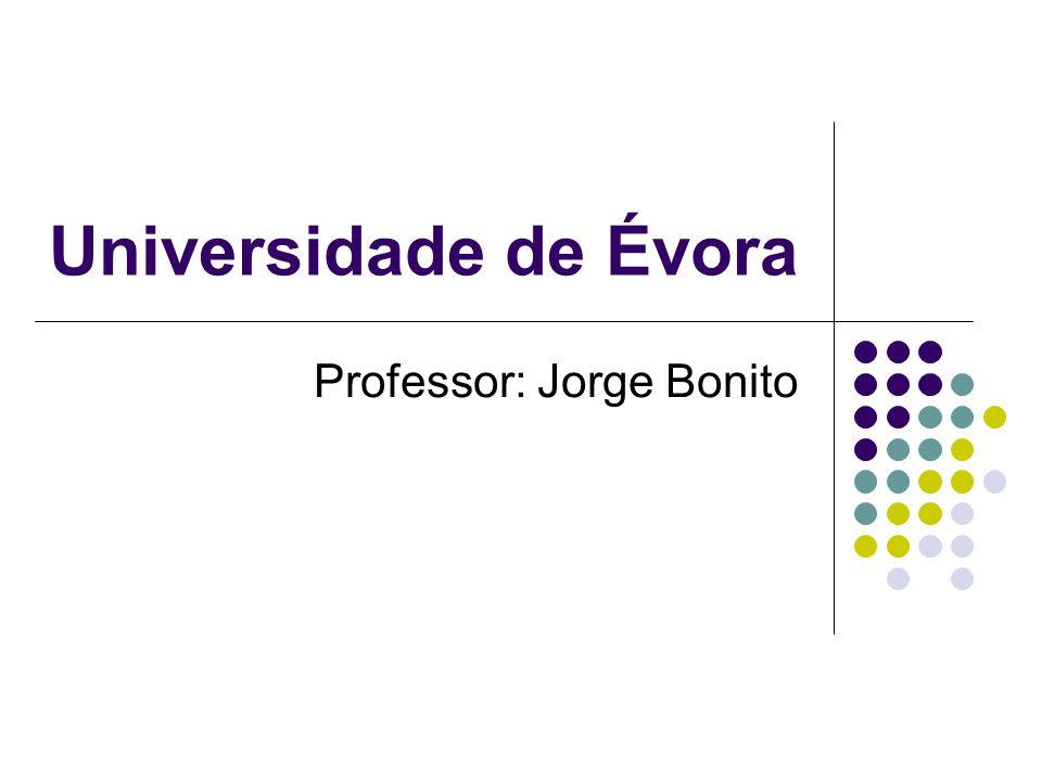 Professor: Jorge Bonito