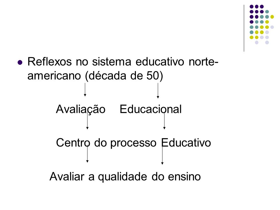 Reflexos no sistema educativo norte-americano (década de 50)