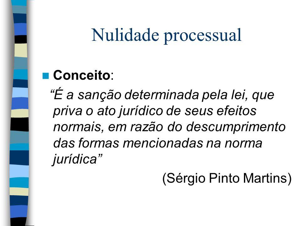 Nulidade processual Conceito: