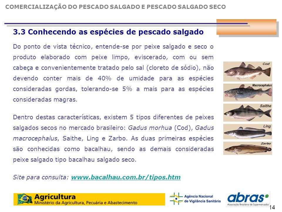 3.3 Conhecendo as espécies de pescado salgado