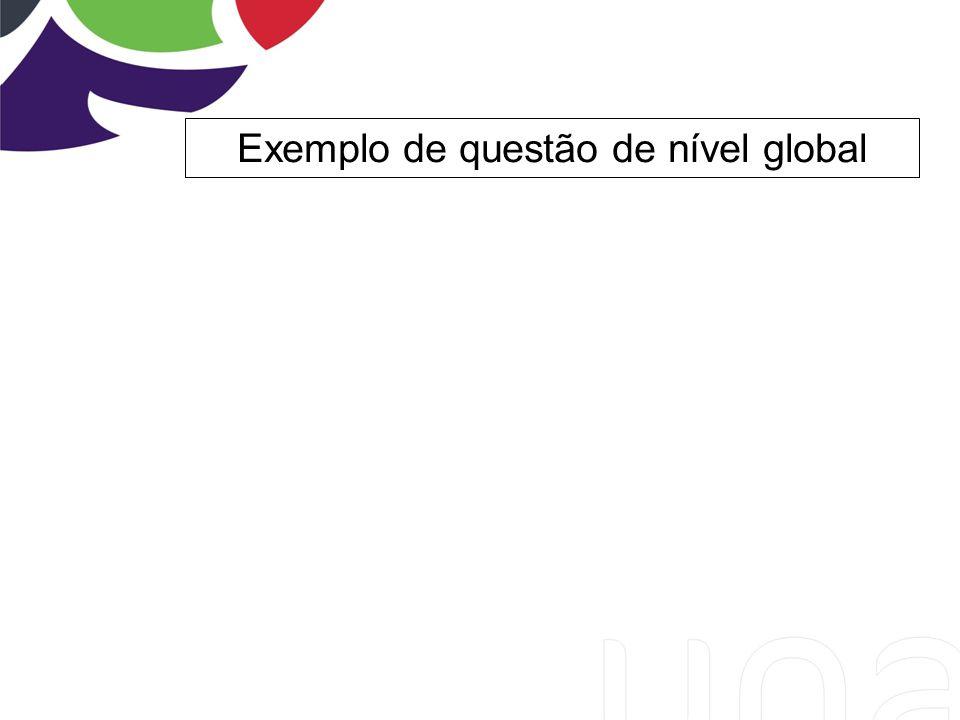 Exemplo de questão de nível global