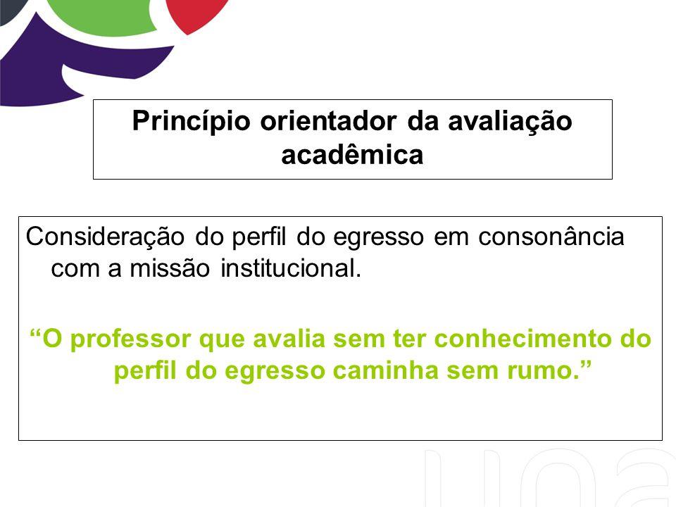 Princípio orientador da avaliação acadêmica