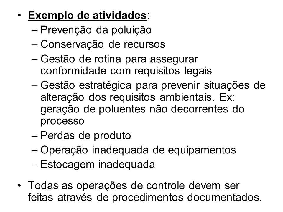 Exemplo de atividades: