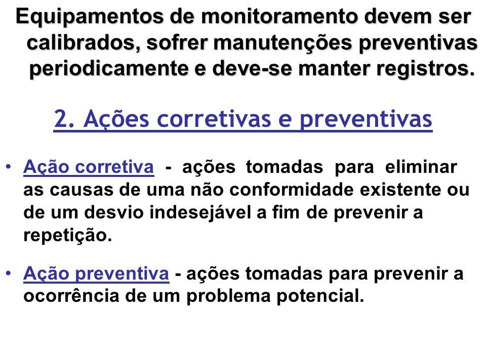 2. Ações corretivas e preventivas