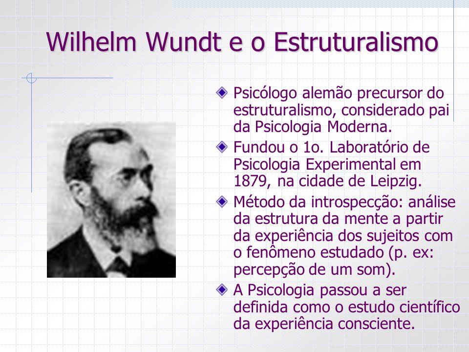 Wilhelm Wundt e o Estruturalismo