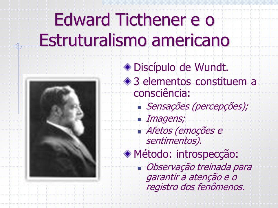 Edward Ticthener e o Estruturalismo americano