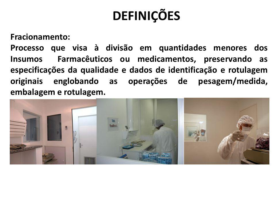 DEFINIÇÕES Fracionamento: