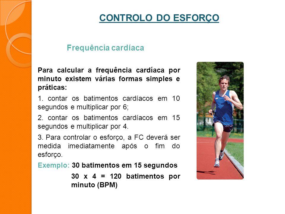 CONTROLO DO ESFORÇO Frequência cardíaca