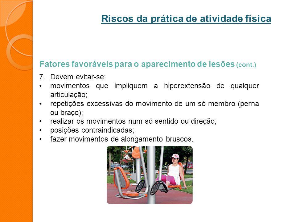 Riscos da prática de atividade física