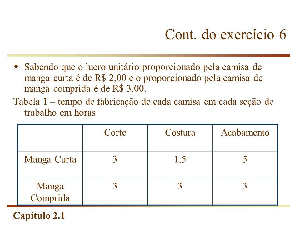 Cont. do exercício 6