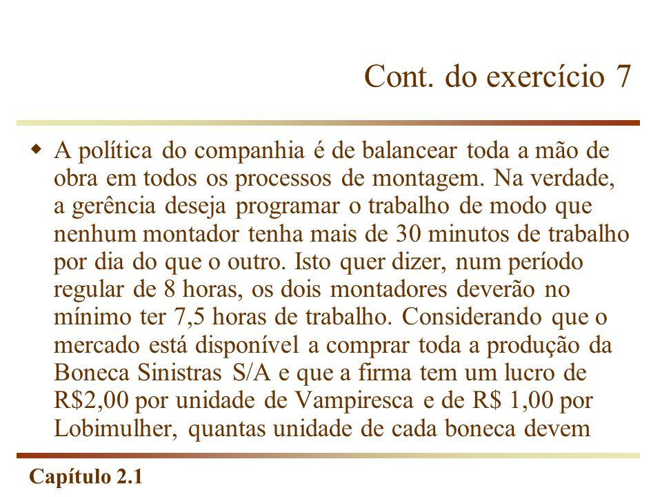 Cont. do exercício 7