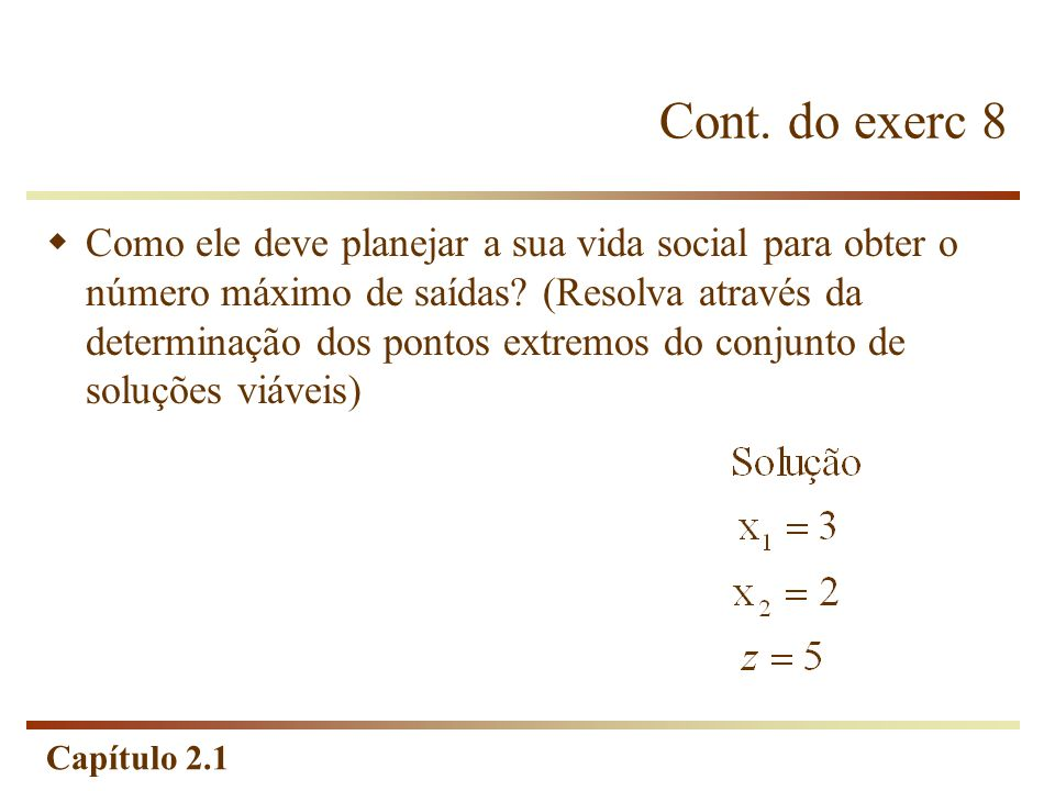 Cont. do exerc 8