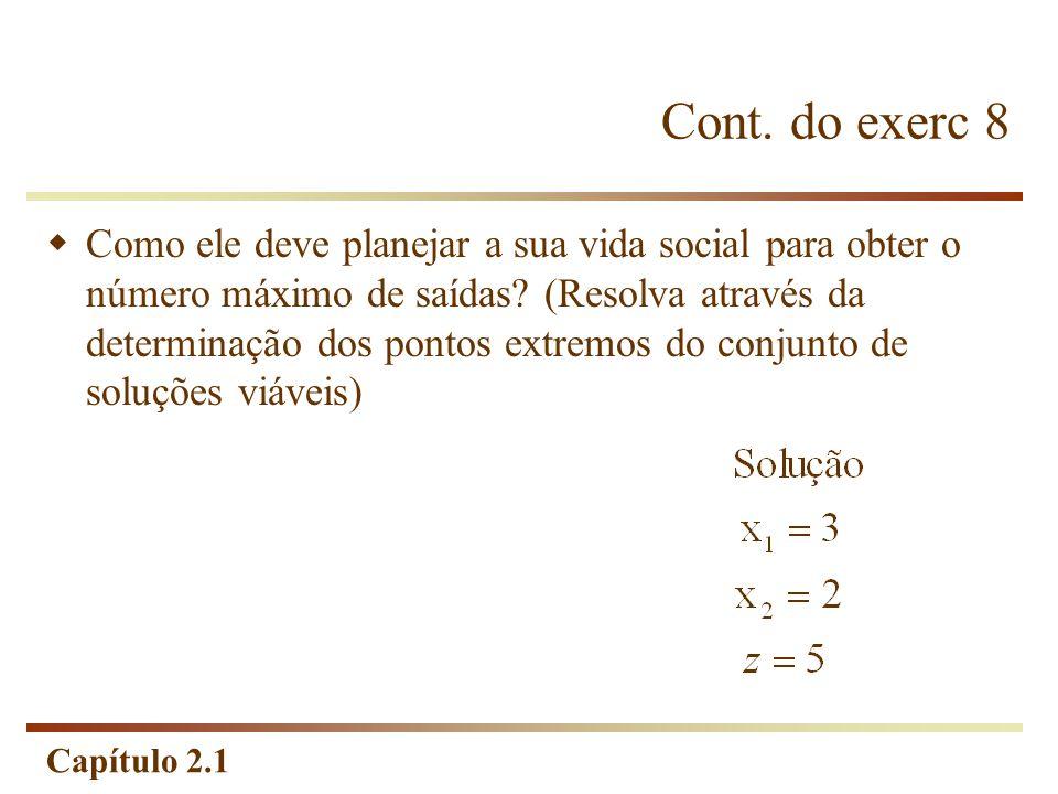 Cont. do exerc 8