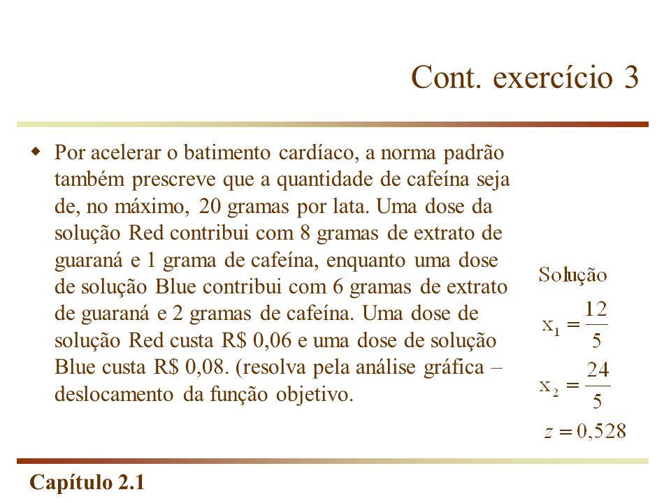 Cont. exercício 3