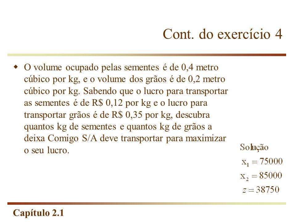 Cont. do exercício 4