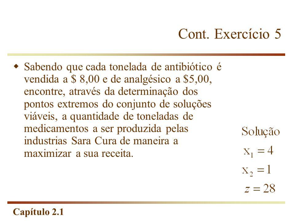 Cont. Exercício 5
