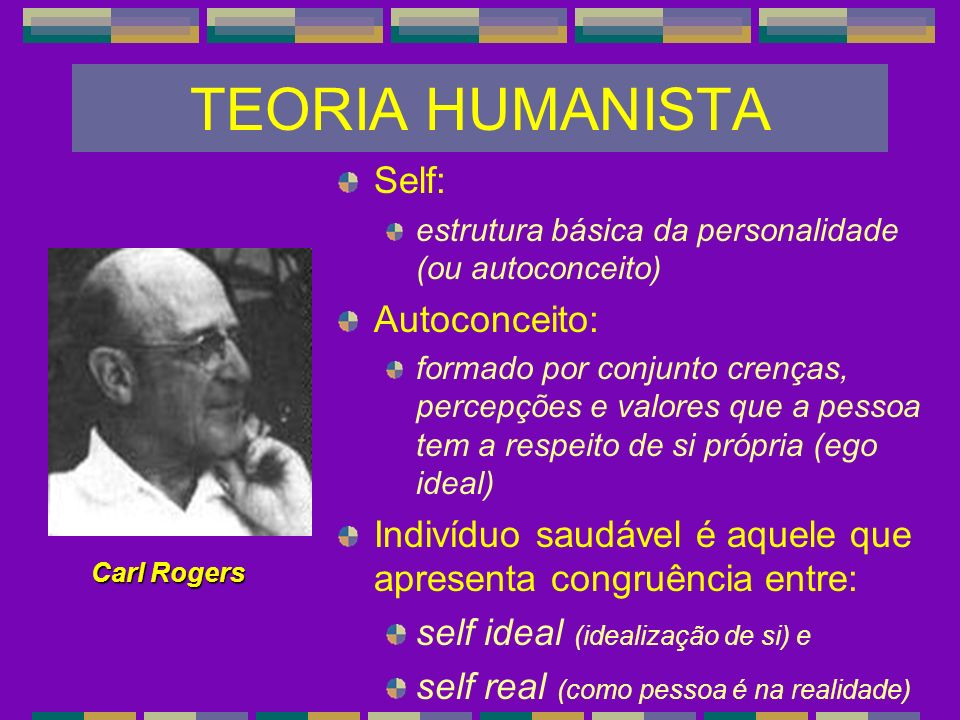 TEORIA HUMANISTA Self: Autoconceito: