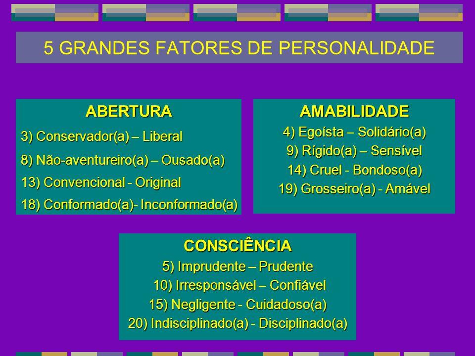 5 GRANDES FATORES DE PERSONALIDADE