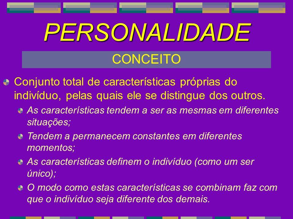 PERSONALIDADE CONCEITO