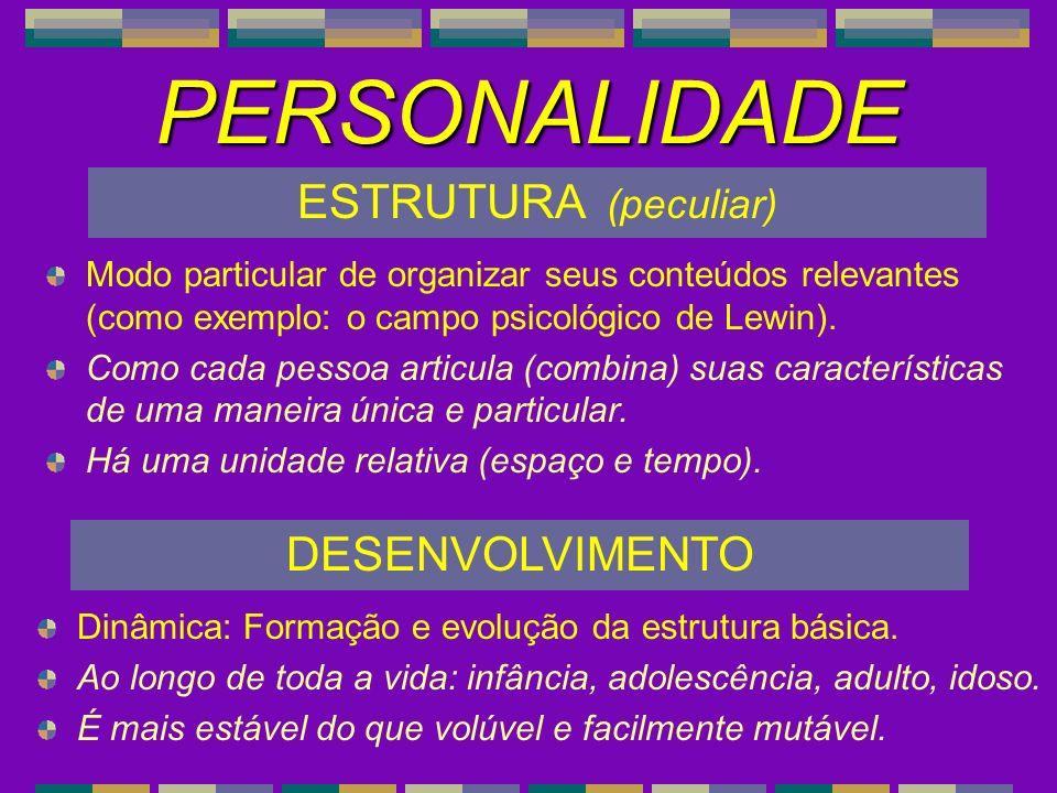 PERSONALIDADE ESTRUTURA (peculiar) DESENVOLVIMENTO