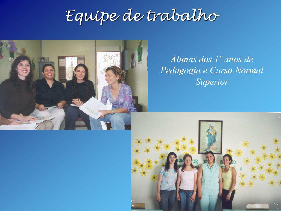Alunas dos 1º anos de Pedagogia e Curso Normal Superior