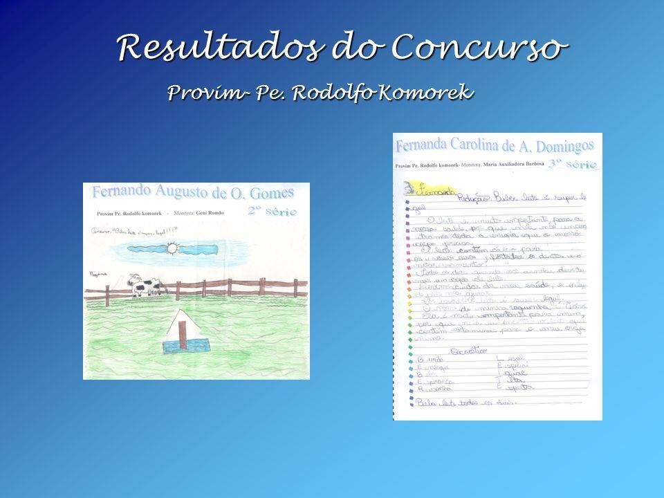 Resultados do Concurso Provim- Pe. Rodolfo Komorek