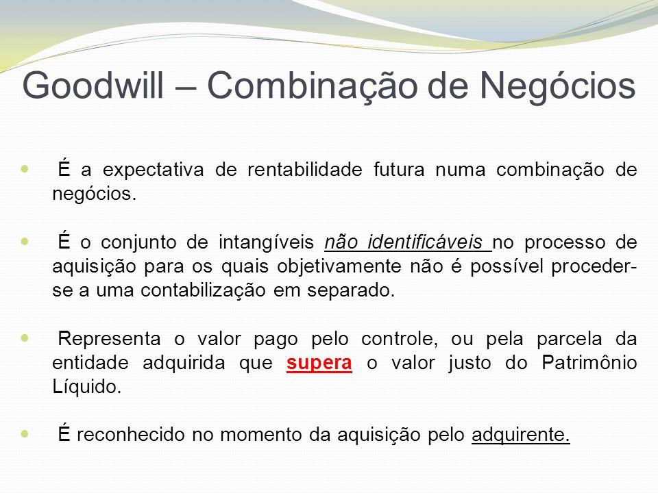 Goodwill – Combinação de Negócios