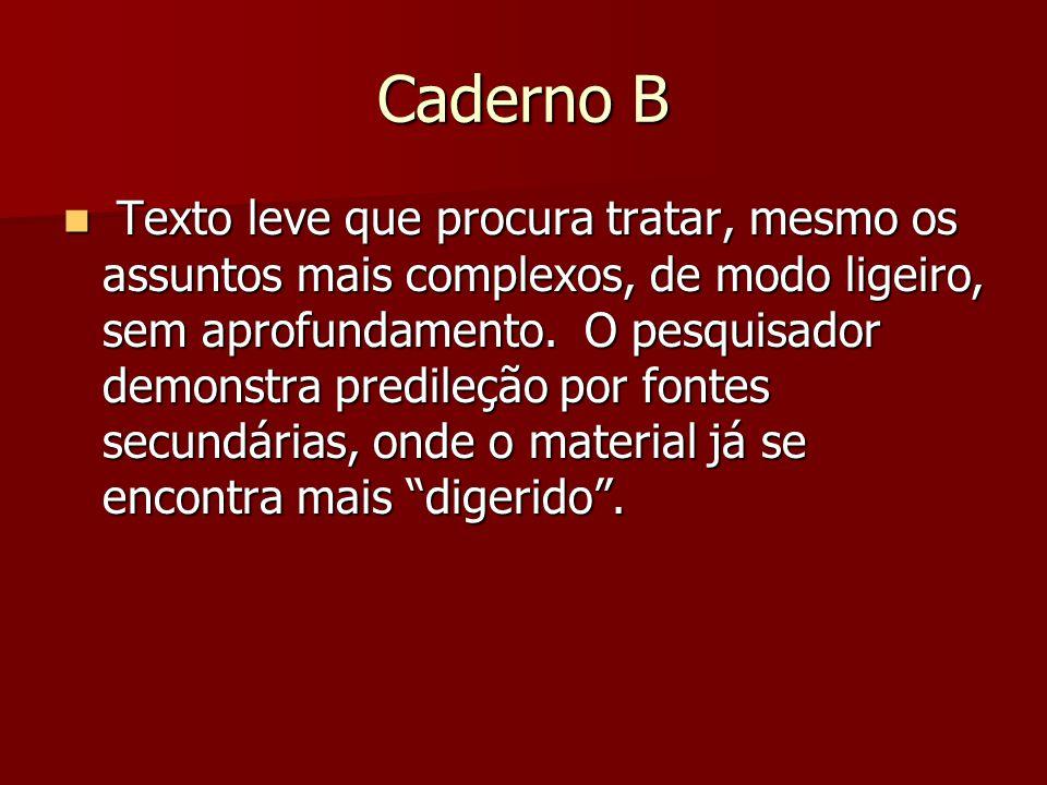 Caderno B