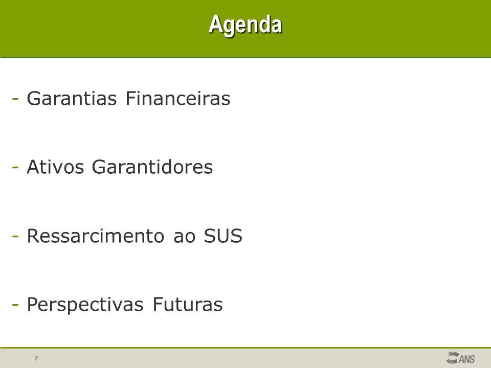 Agenda Garantias Financeiras Ativos Garantidores Ressarcimento ao SUS