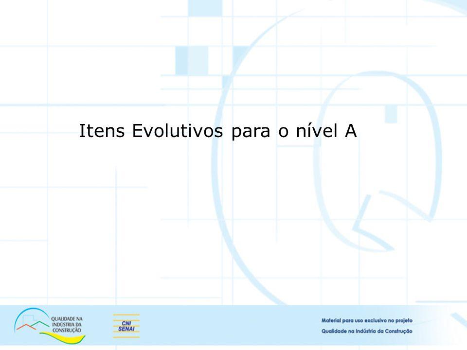 Itens Evolutivos para o nível A
