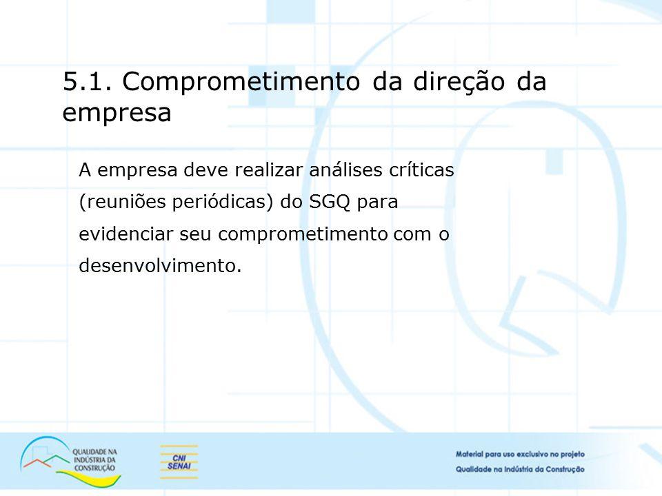 5.1. Comprometimento da direção da empresa