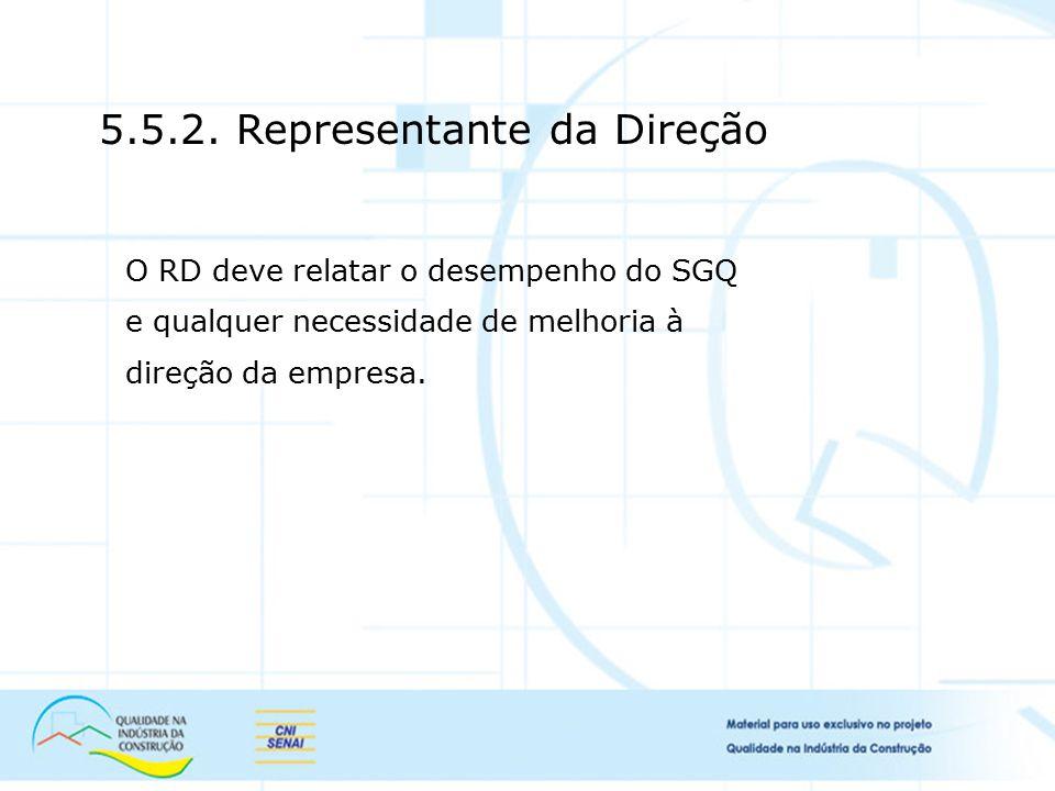 5.5.2. Representante da Direção