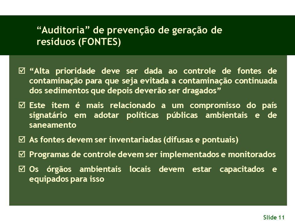 Auditoria de prevenção de geração de resíduos (FONTES)
