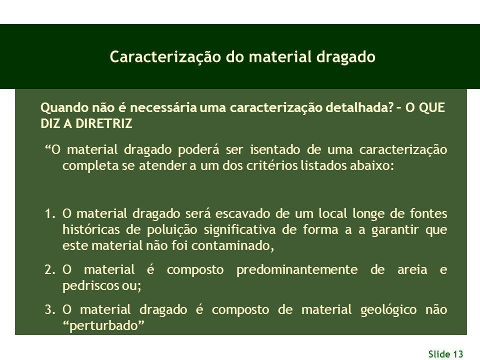 Caracterização do material dragado
