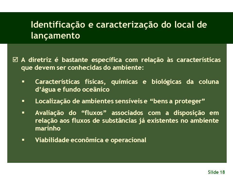 Identificação e caracterização do local de lançamento