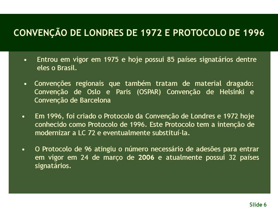 CONVENÇÃO DE LONDRES DE 1972 E PROTOCOLO DE 1996