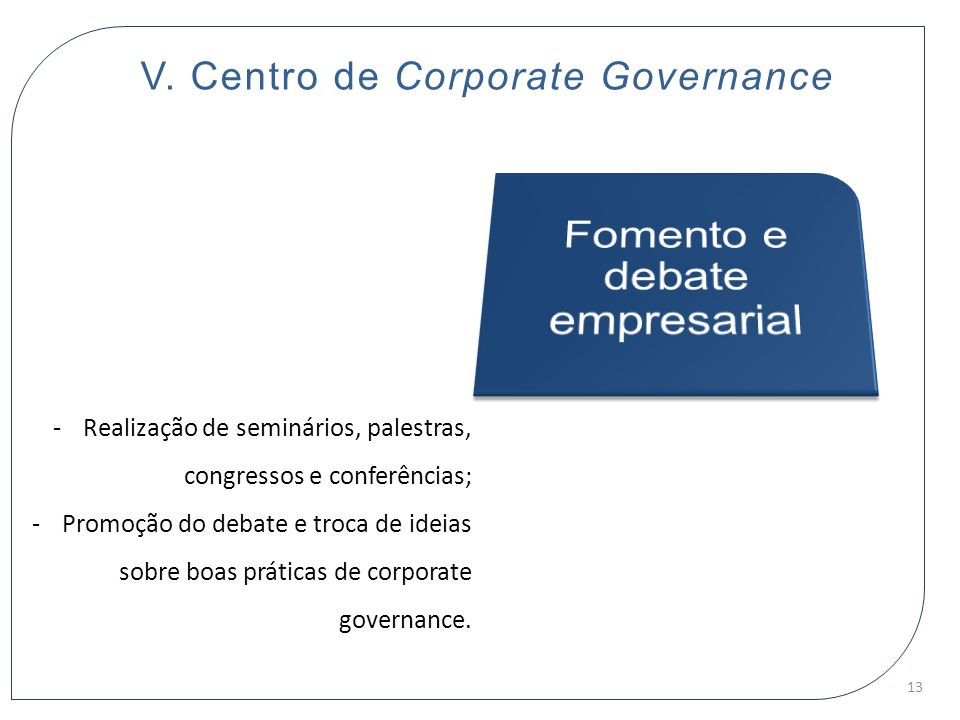 V. Centro de Corporate Governance