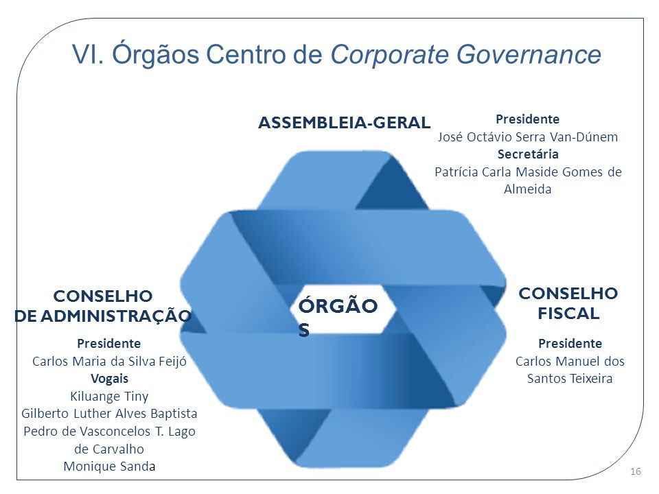 VI. Órgãos Centro de Corporate Governance