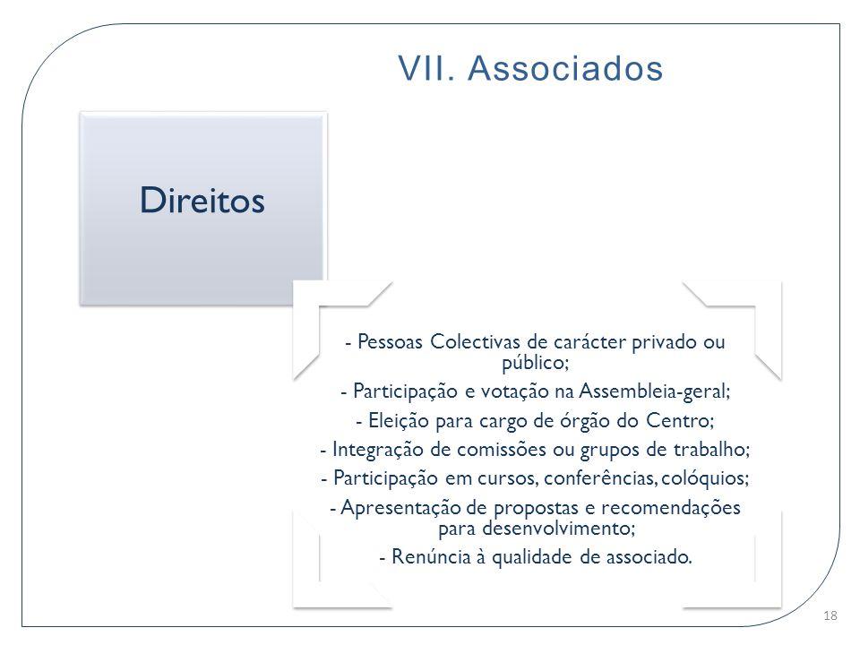 Direitos VII. Associados