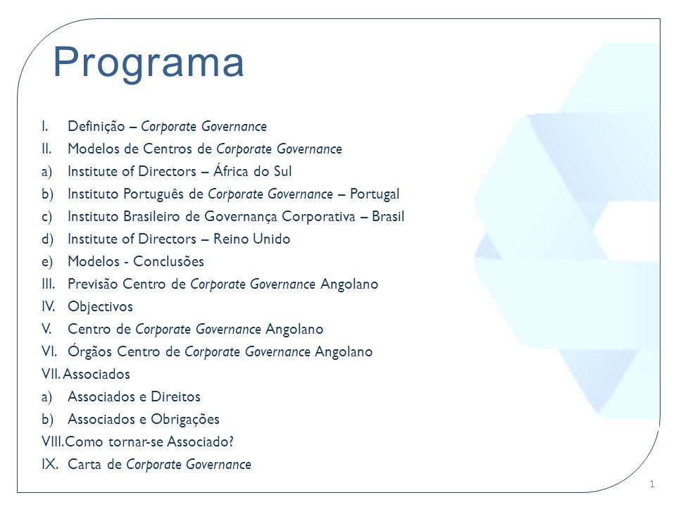 Programa Definição – Corporate Governance