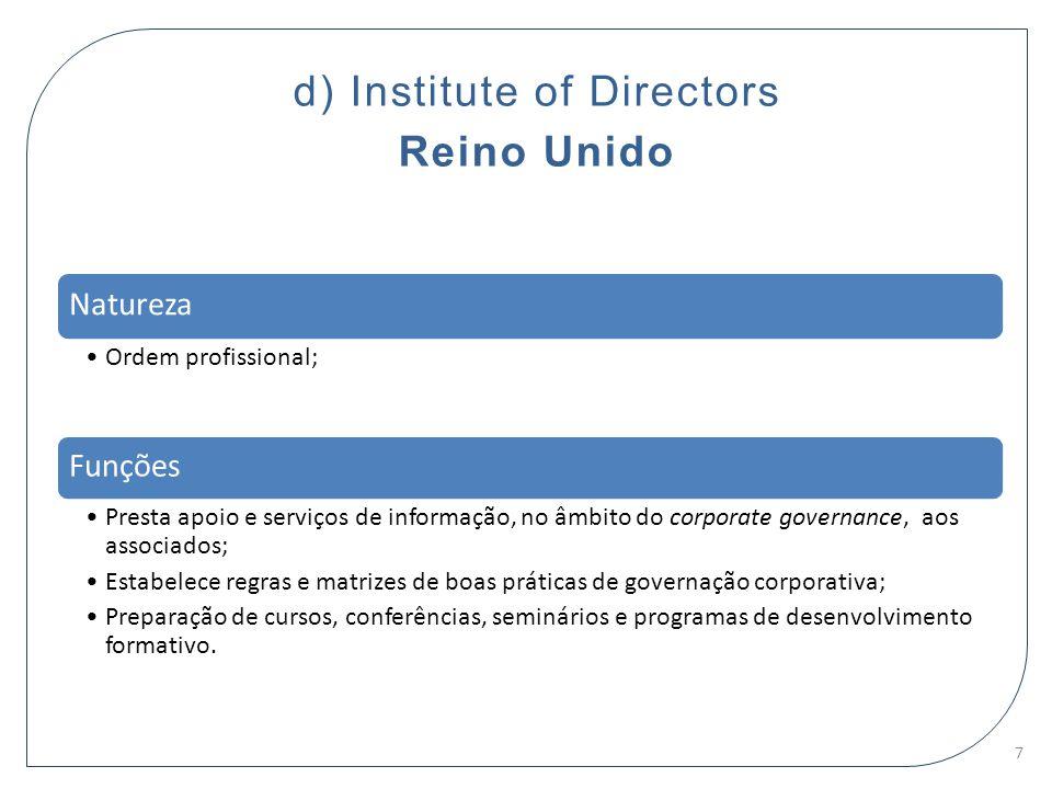 d) Institute of Directors Reino Unido