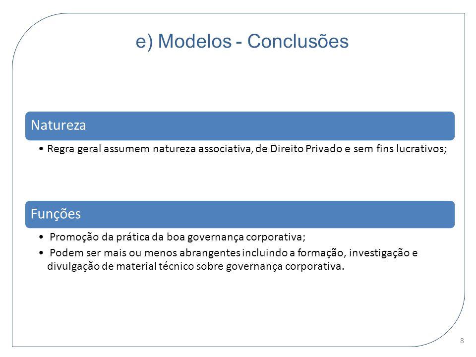 e) Modelos - Conclusões