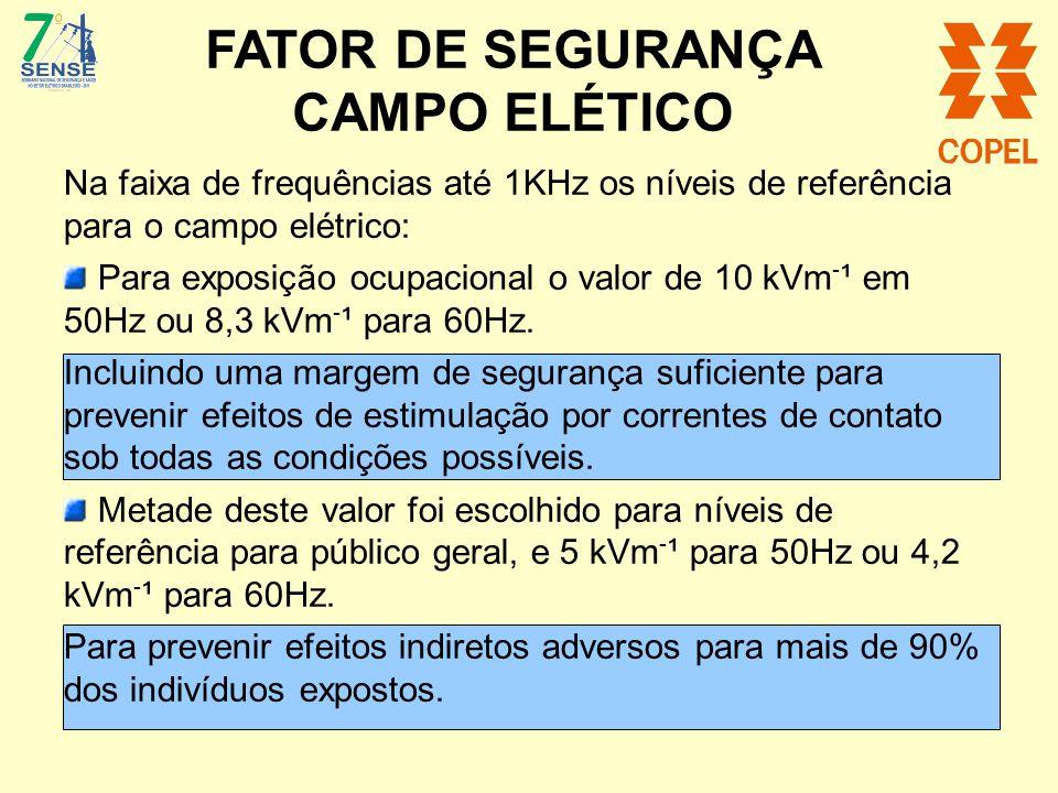 FATOR DE SEGURANÇA CAMPO ELÉTICO