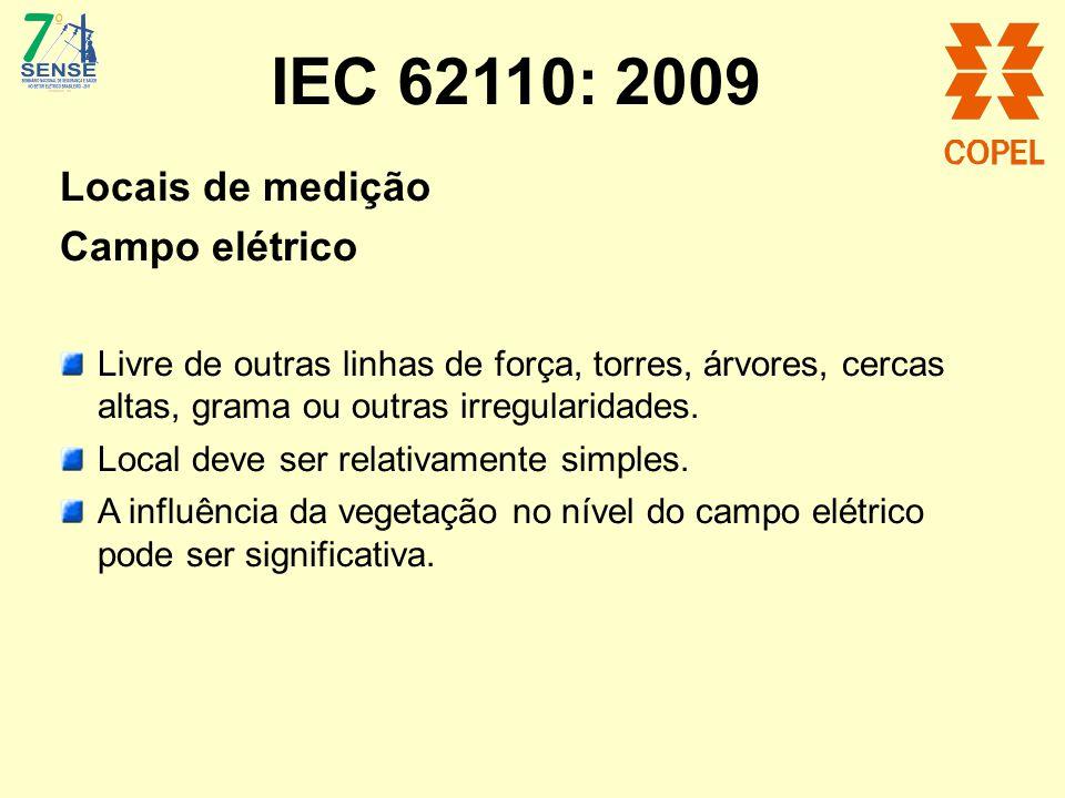 IEC 62110: 2009 Locais de medição Campo elétrico