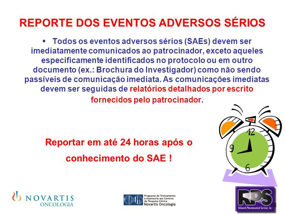REPORTE DOS EVENTOS ADVERSOS SÉRIOS