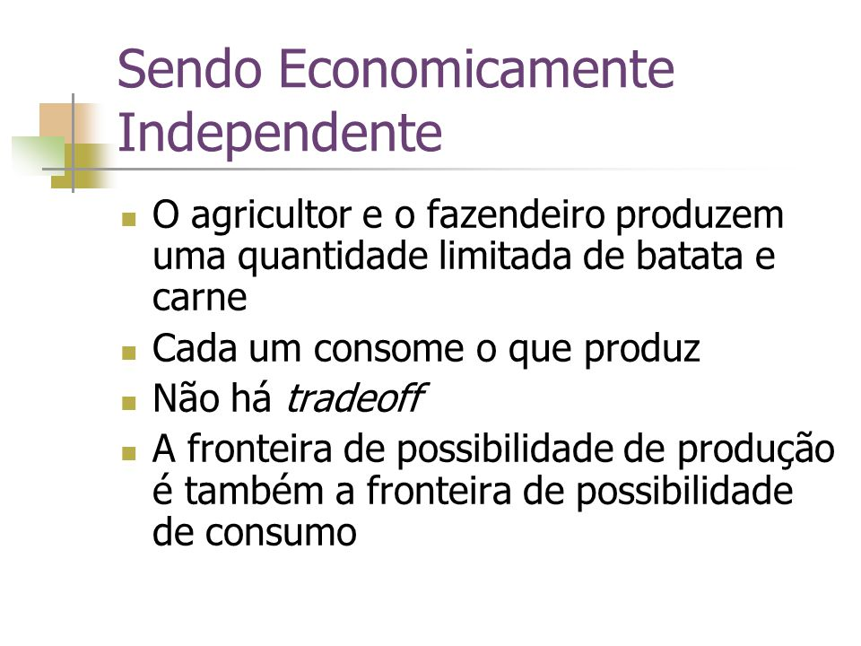 Sendo Economicamente Independente
