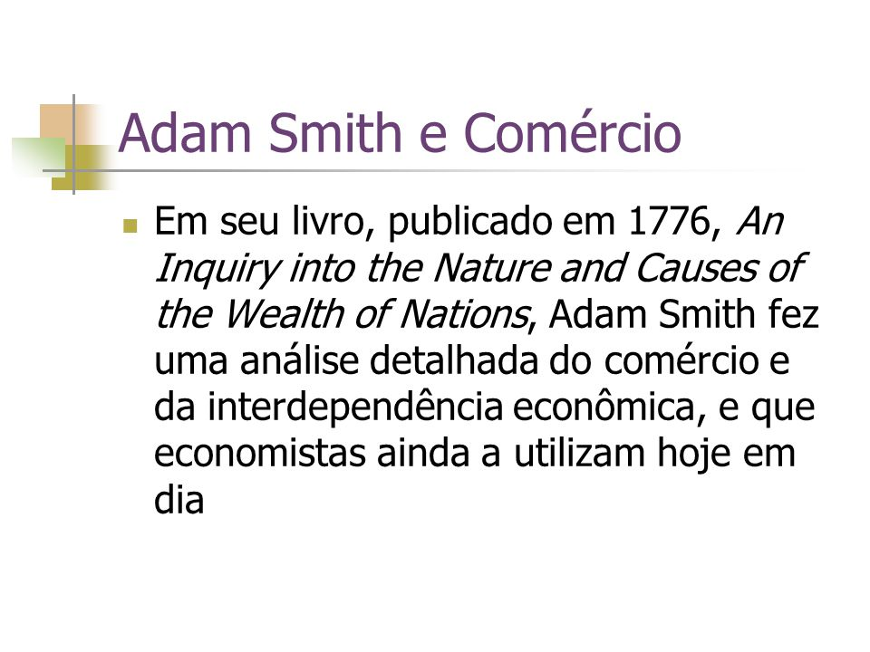 Adam Smith e Comércio