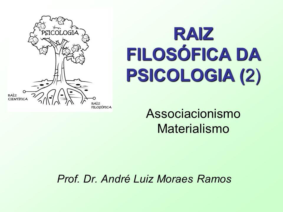 RAIZ FILOSÓFICA DA PSICOLOGIA (2) Associacionismo Materialismo
